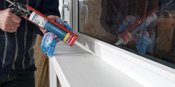 Герметизация швов после установки металлопластикого окна